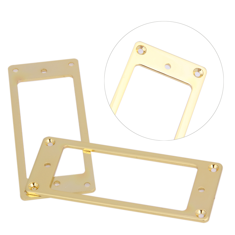 compare prices on frames guitar online shoppingbuy low price  - new x pickup frames humbucker pickup ring curved bottom frame golden ironfor guitar accessories wholesale