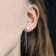 New Vintage Simple Ear Stud Triangular Earrings For Women Metal Long Tassel Earring Fashion Jewelry Brincos Wholesale E16