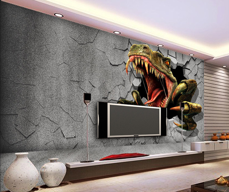 Aliexpress.com : Buy 3D Dinosaur Wallpaper Personalized Custom Wall Murals  Jurassic Park Photo Wallpaper Kids Boys Bedroom Office Shop Art Room Decor  From ... Part 53
