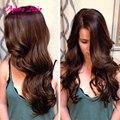 4 Связки Объемная Волна 7А Бразильский Объемная Волна Бразильский Девственные Волосы #2 Цвет Необработанные Человеческих Волос Tissage Bresilienne