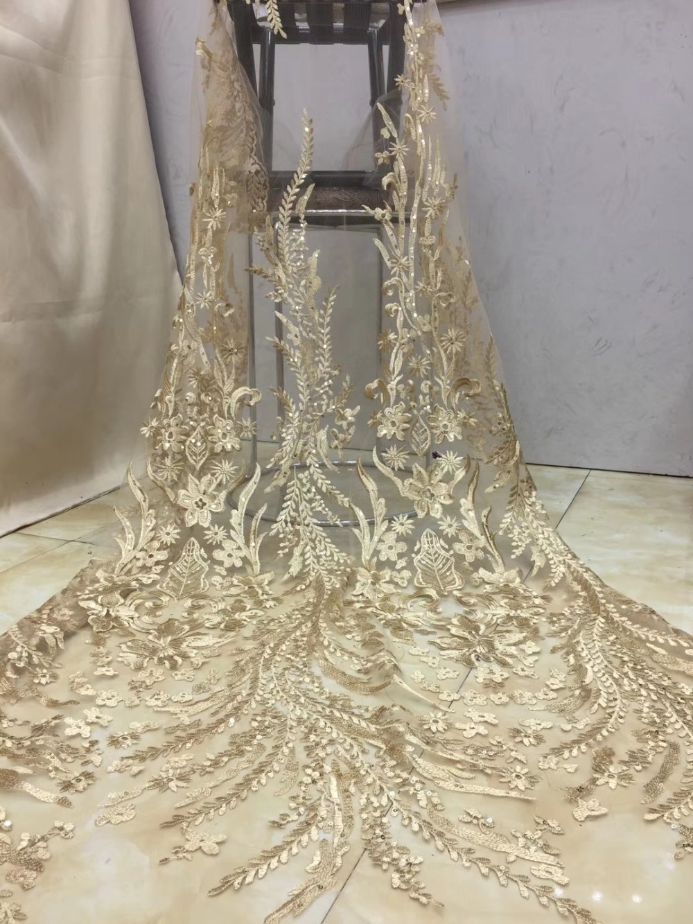African Lace 2019 French Nigerian Lace Fabric Bridal High Quality Swiss Net Tulle Lace Fabric For Wedding Party    XZXAP162African Lace 2019 French Nigerian Lace Fabric Bridal High Quality Swiss Net Tulle Lace Fabric For Wedding Party    XZXAP162
