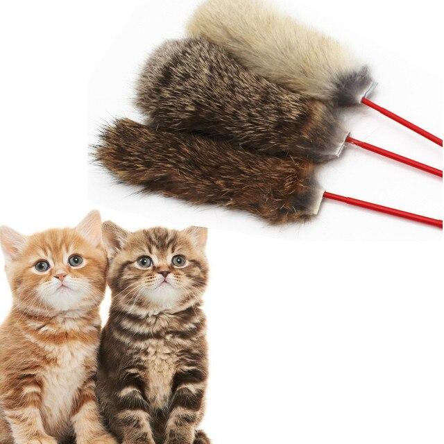 Capelli Del Coniglio di modo Divertente Gatti Pet Gattino Salto Aiutare Divertim