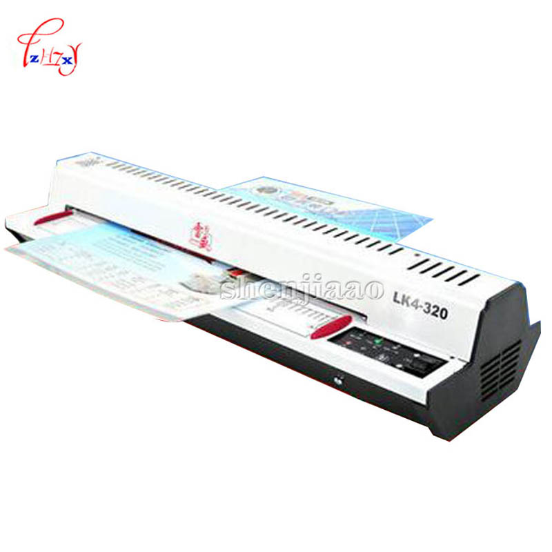 A3 /A4 Cold Roll laminator Laminating Machine, 4 Roller System photo laminator LK4-320 220v 300w cold laminator cewaal 2017 cla403l a4 photo laminator paper film document thermal hot