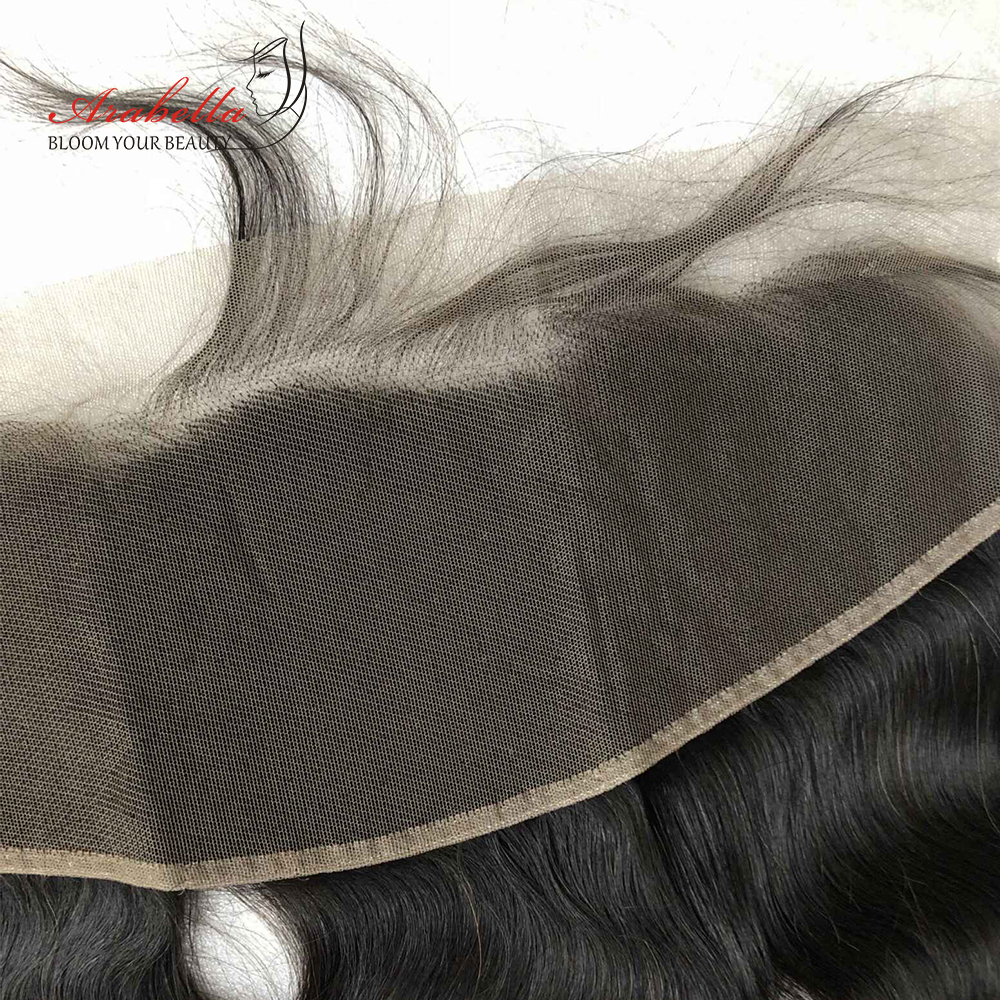 Transparent 13x4 Lace Frontal Straight Hair Natural  Arabella PrePlucked Bleached Knots Lace Frontal Closure 6