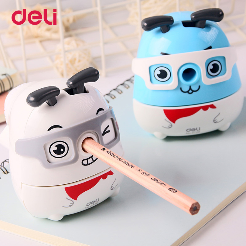 Deli 2017 Cute Kawaii Animal Dog Pencil Sharpener Korean Kids School Supplies Stationery Hand Crank mechanical pencil sharpeners new arrival deli sweet house children pencil sharpeners 0724 cute cartoon students mechanical pencils writing supplies blue
