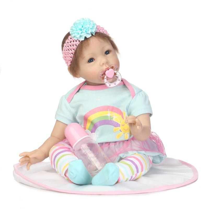 Cute Kawaii Reborn Babies Doll Soft Silicone Realistic Baby Dolls Fashion Dolls Toys Accessories For Kids Childern Toy kawaii baby dolls