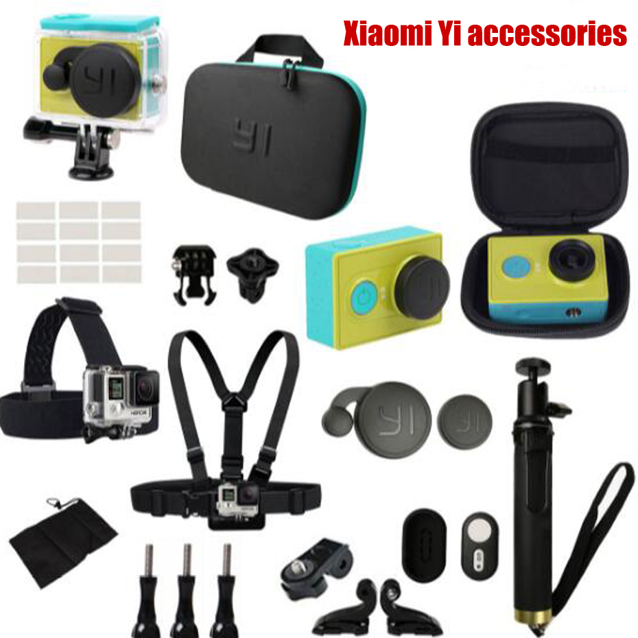 For Xiaomi Yi action camera accessories Waterproof housing Case Bag Bluetooth Selfies Monopod Camera Remote Control