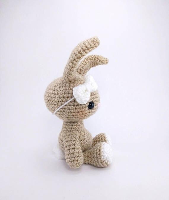 Amigurumi Haak bunny konijn speelgoed rammelaar Haak baby Speelgoed gift 2