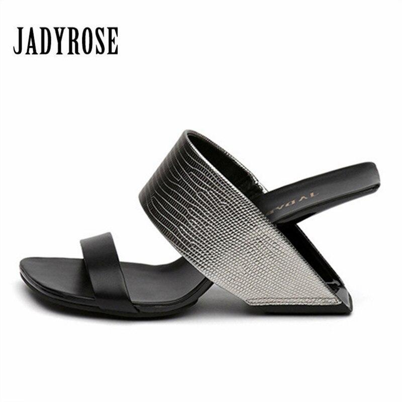Jady Rose Fashion Sandals Strange Heel Women Pumps Summer High Heel Slippers Gladiator Sandal Wedge Shoes