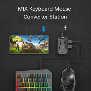 Image 5 - PUBG Game Converter MIX Keyboard Mouse Converter Bluetooth Station Stand Docking for iphone android Gamepad Joystick Controller