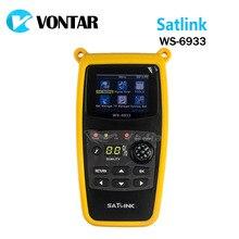 [Подлинный] Satlink WS-6933 DVB-S2 Спутниковый Finder Метр satlink FTA С & Ку-диапазон 6933 WS6933 с 2.1 Дюймов ЖК-Дисплей