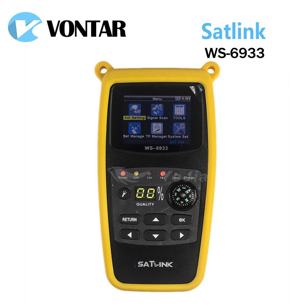 Prix pour [Véritable] Satlink WS-6933 DVB-S2 FTA C & KU Bande Satellite Finder Compteur satlink 6933 WS6933 avec 2.1 Pouce LCD Affichage