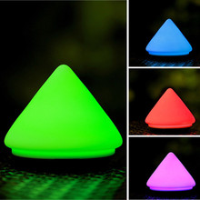 Mini Volcano Shaped USB Rechargeable Color Change Silicone LED Night Light Kids Baby Bedroom Atmosphere Nursery Push Touch Lamp