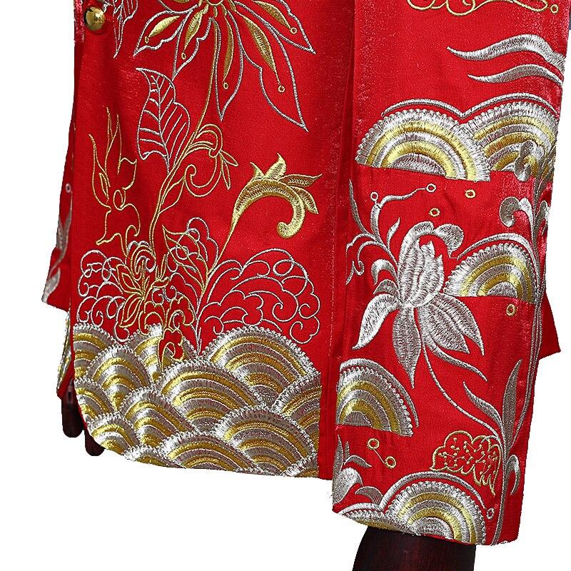 white Stage Nouveau Hommes Veste Performance Imprimer Hôte Coiffeur red Blazers Dj Décontracté Costumes De Robe Costume Chanteur Blue Unique qr4vqU