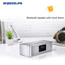 Breezelife Speaker Bluetooth Speaker Portable Bluetooth Speakers Super Bass Clock Bluetooth 10W MP3 PC usb Bluetooth Speaker