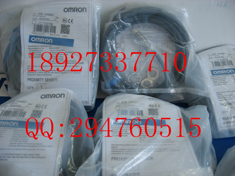 [ZOB] New original OMRON Omron proximity switch E2E-X4MD1 2M detection distance of 4 mm --2PCS/LOT