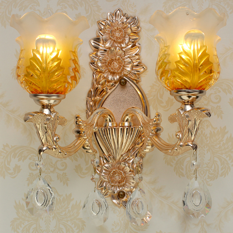 Sconce Wall Lights Crystal Lamp Double Bedroom Bedside Lamp Bathroom Light Hotel Decoration Wall Lamps Bathroom Vanity Lighting