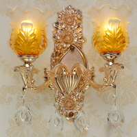 Sconce Wall Lights Crystal Lamp Double Bedroom Bedside Lamp Bathroom Light Hotel Decoration Wall Lamps Bathroom Vanity Lighting