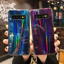 Laser Mirror Case For Samsung Galaxy S8 S9 Plus S10 Lite Phone A50 A70 A30 J6 J4 2018 Coque Glitter TPU Soft Silicone Cover