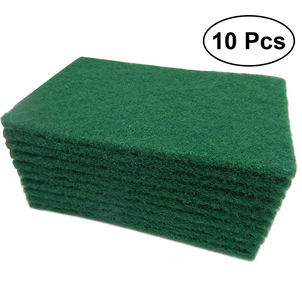 10Pcs Durable Heavy Duty Scour Pad General Purpose Scrub Sponge Scouring Pad Non-Scratch Pot Scrubber Pads Cleaning Sponge