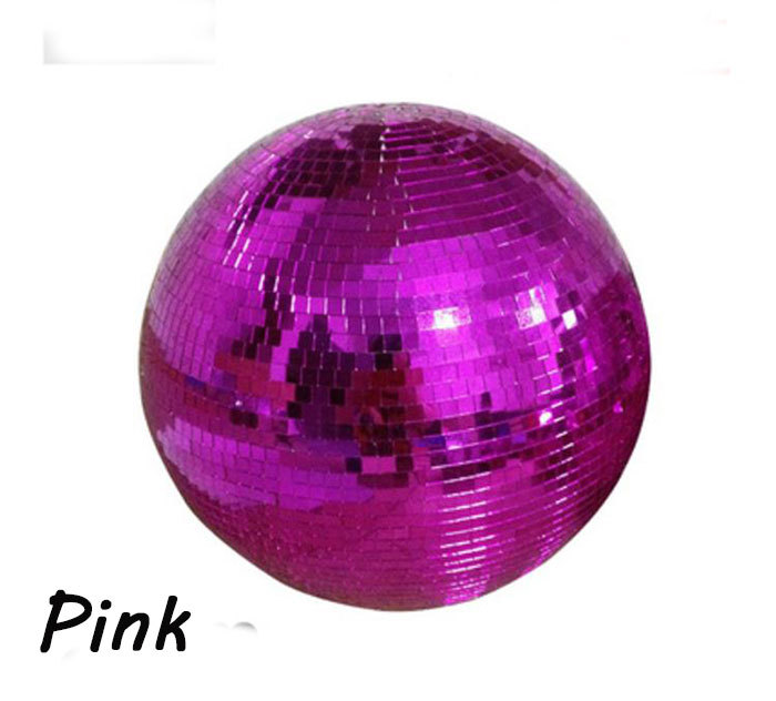 10 diameter Pink glass mirror ball D25cm Reflect hanging balls for disco DJ home party night club stage holiday Xmas decoration