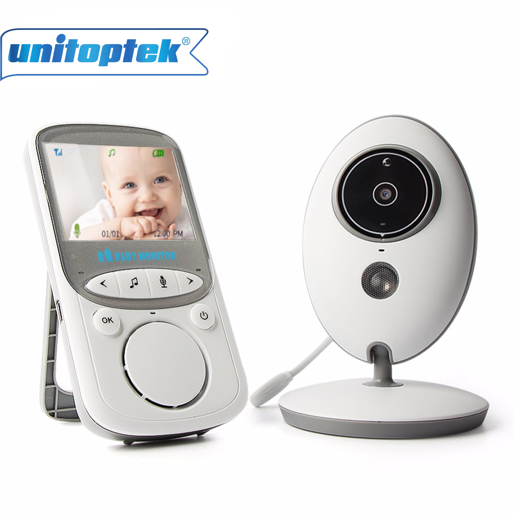 2.4GHz Wireless Baby Monitor 2.4 Inch Video Color Camera Intercom Audio Night Vision Temperature Monitoring Babysitter Nanny fpv 1 2ghz 100mw 4ch wireless audio