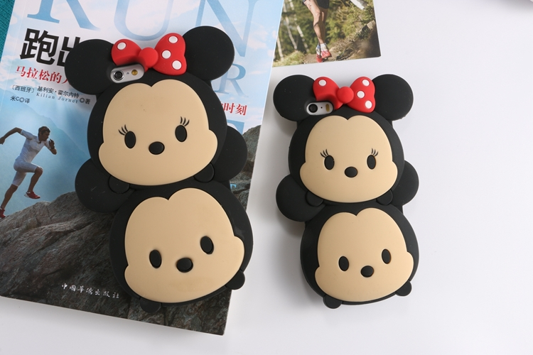 TSUM cartoon apple phone 5/5s 6 6plus silicon back cover case Mickey Minnie protection gifts - 20144you store