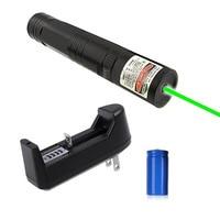 3in1 Caneta Laser Pointer 5 mw 532nm Green Laser Pointer Pen Lazer Feixe de Luz + 16340 Bateria + Carregador XXM8