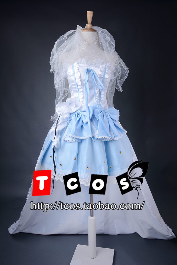 Free Shipping! Newest! Macross F Sheryl Nome Queen The Wings Of Goodbye Wedding Dress Cosplay Costume ,Perfect Custom For you! стоимость