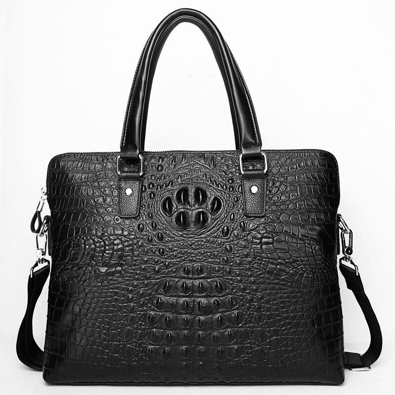 New Luxury 100% Cow Genuine Leather Business Men's Briefcase Male Shoulder Bag Men's Messenger Bag Tote Computer Handbag