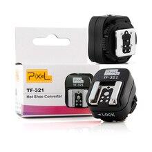 PIXEL TF 321 TTL Convertidor de Zapata a PC, Adaptador convertidor de conector de sincronización para Canon