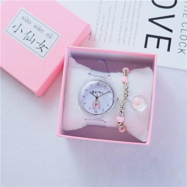 Transparent Watch Beautiful Cartoon Ladies Lovely New Sweet Pig Quartz Mujer Reloj