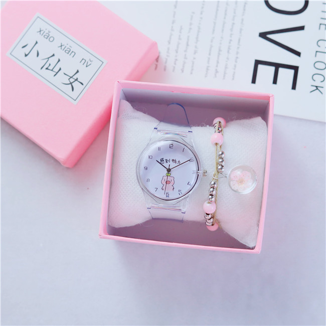 New Lovely Pig Cartoon Watches Women Transparent Watch Ladies Sweet Beautiful Women's Quartz Watch Female Wristwatch Reloj Mujer