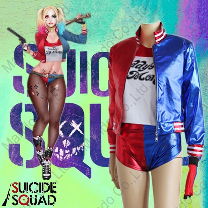 Ženy Batman Suicide Squad Harley Quinn Cosplay kostýmy bunda + - Kostýmy