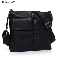 Fashion Small Crossbody Bags For Men Waterproof Leather Business Casual Travel Black Messenger Bag Men Shoulder