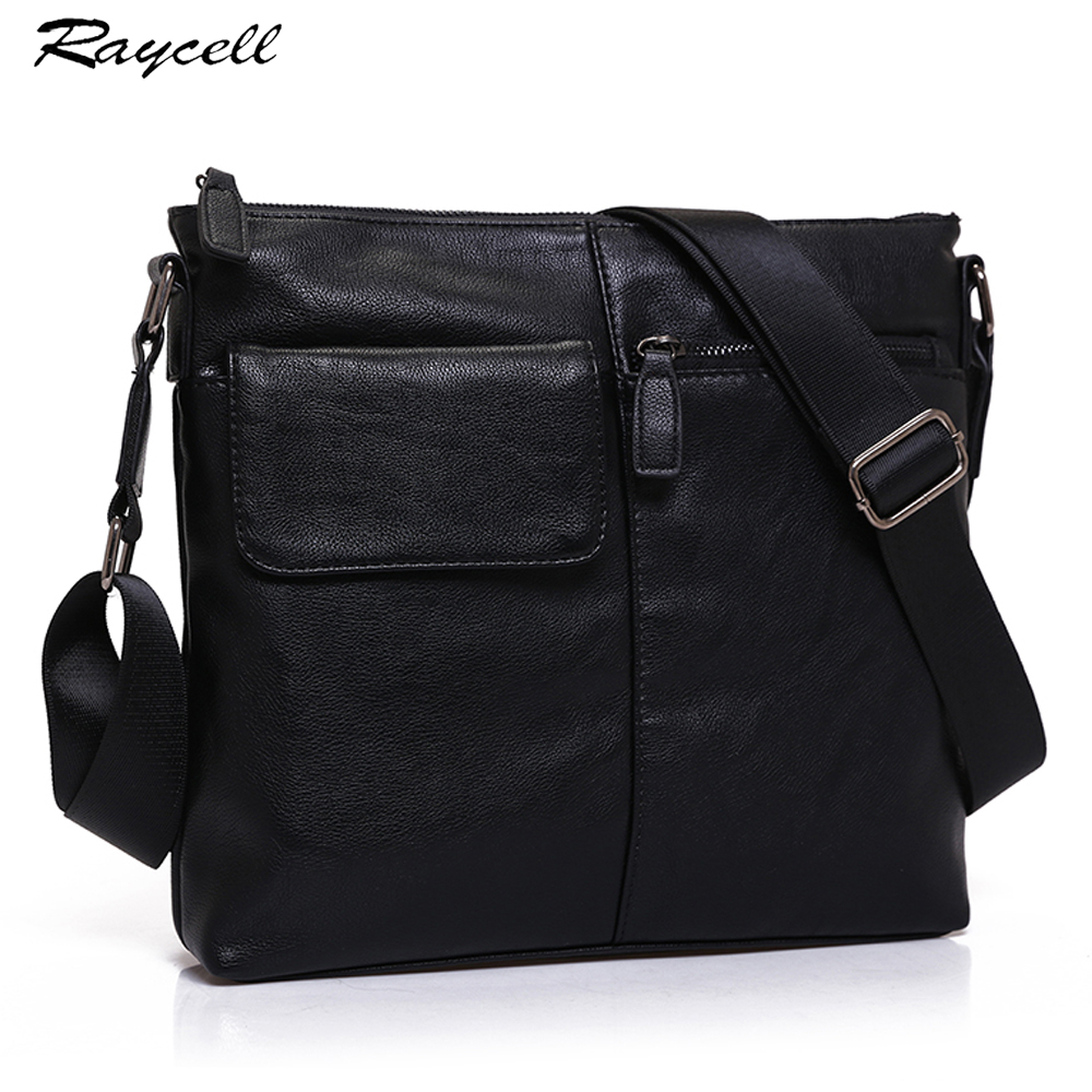 Fashion Small Crossbody Bags For Men Waterproof Leather Business Casual Travel Black Messenger Bag Men Shoulder Bag Handbages yeso small crossbody business nylon bag men outdoor sport travel waterproof messenger bag casual fashion small shoulder bag man