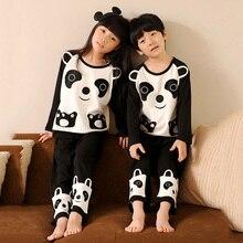 100% Coton Panda Nuit Enfants Pyjamas Ensembles Pour Garçons Et Filles Enfants Pyjama Pijamas Enfant Enfant de Loisirs Porter Bébé vêtements