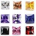 Квадратная форма AAAAA, 50 шт., 1.75x1, 75 ~ 15х15, белый, воилет, оливковый, фиолетовый, черный, розовый, кубический циркониевый камень