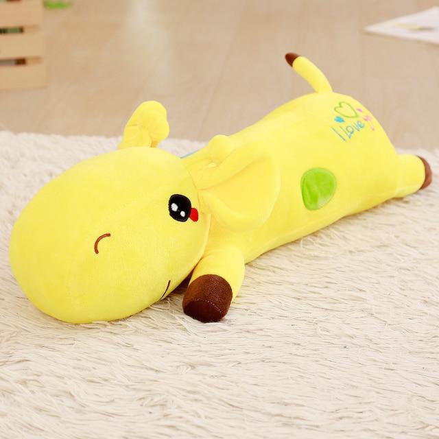 60/90/110cm Cute Baby Toys Rainbow Giraffe Plush Toys Deer Dolls Soft Pillow Cusion For Girls  Kids Brinquedos kawaii gifts