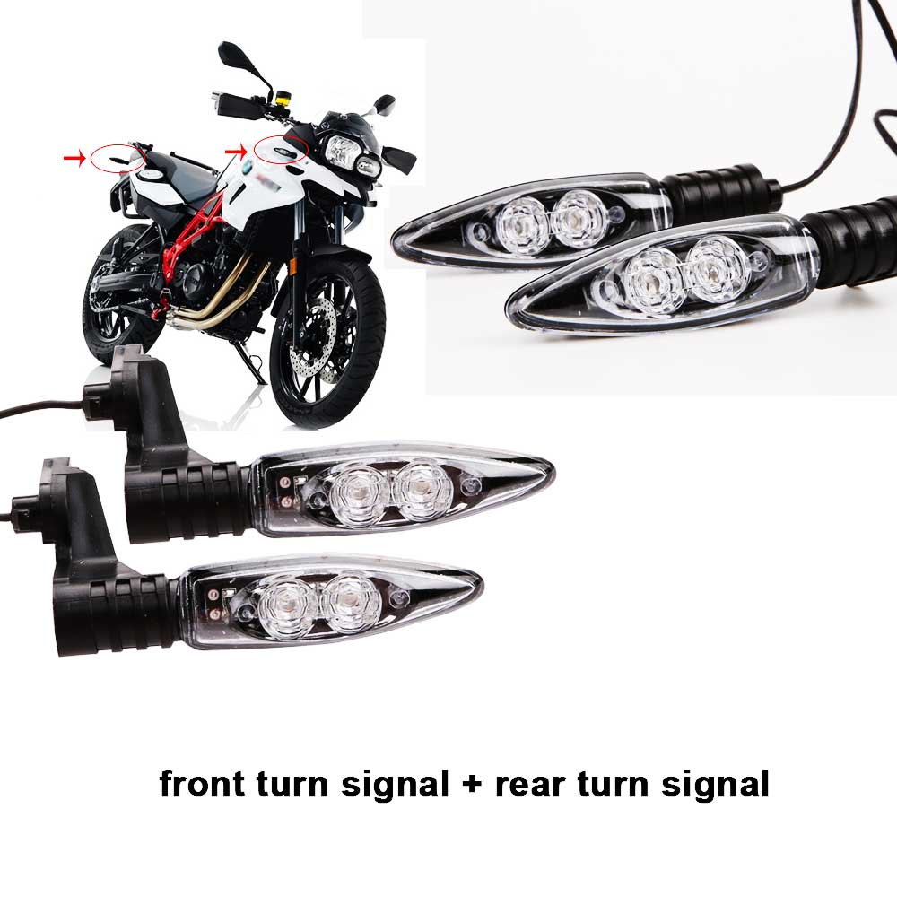 Front & Rear Turn Indicator Signal Light LED For BMW F800r F800gs F650gs F800st F800s K1200r K1200r Sport Hp2 Sport R1200r R1200