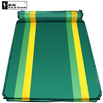 цена на Flytop couple 2persons automatic inflatable cushion outdoor tent mattress moisture-proof pad for widening and thickening