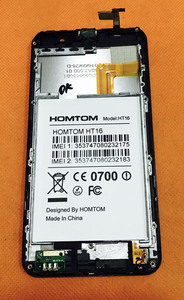 Image 2 - Used Original Touch screen + LCD display + Frame for HOMTOM HT16 MT6580 Quad Core 5.0 Inch Free shipping