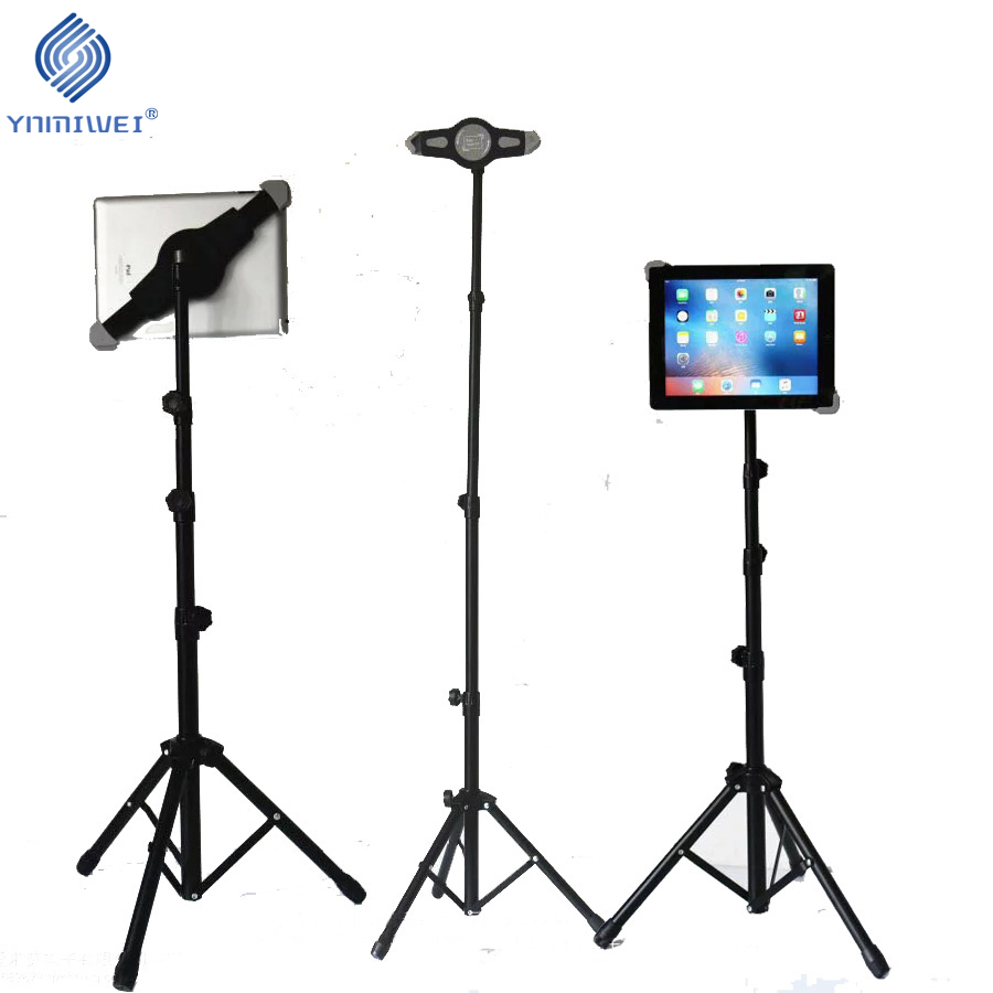 Tripod Floor Stand Tablet Tripod Holder For Ipad Kindle Fire Samsung Lenovo Xiaomi 7 - 11 Inch Universal Mount tablet support tripod rotation tablet holder stand for ipad air mini 2 3 4 tablet mount 7 10 inch floor tripod stand for samsung kindle huawei
