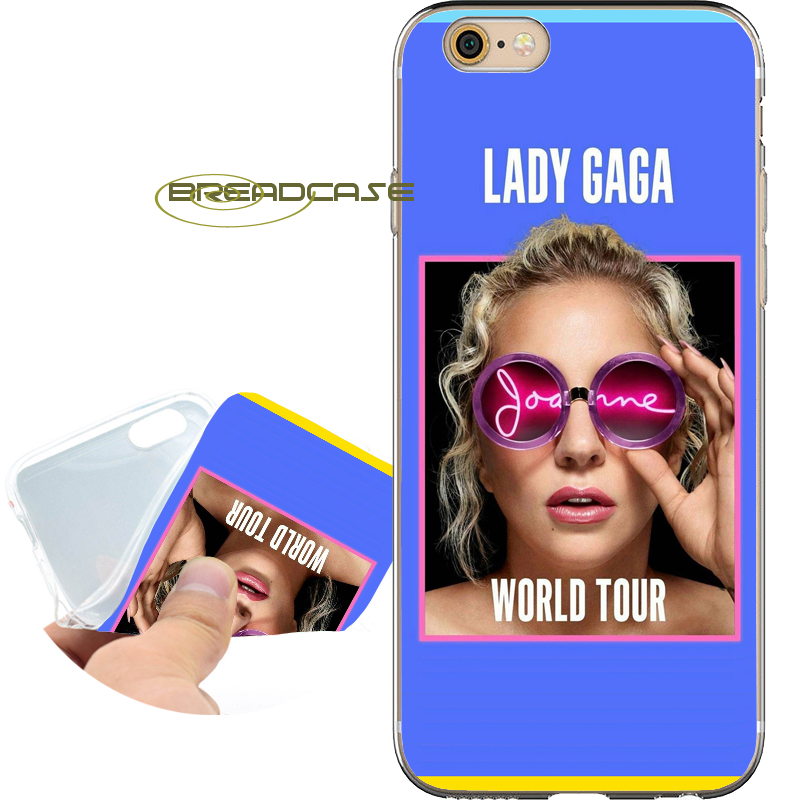 Coque Lady GAGA JOANNE Shell Cases for iPhone 10 X 8 7 6S 6 Plus 5S SE 5 5C 4S 4 iPod Touch 6 5 Soft Clear TPU Silicone Cover.
