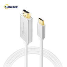 Kimwood USB C HDMI Cable Type C to HDMI Micro USB-C HDMI Adapter 60HZ 4K Thunderbolt 3 for MacBook S8/8+ Mate 10 Extension Cable