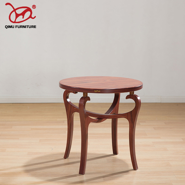 Antique Furniture Suitable For The Living Room Solid Wood Tea Table Round Retro Wooden Self