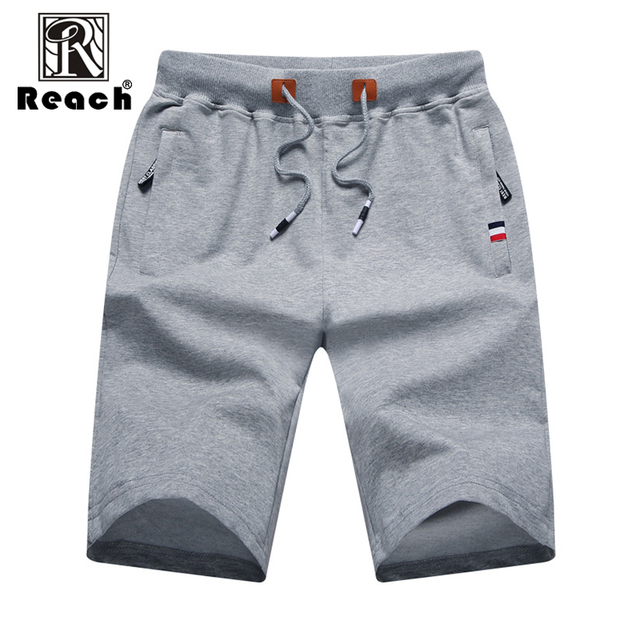 reach Men Shorts Cotton 2018 Men Short Pants Zipper Casual Summer Trousers Solid Shorts Elastic Waist 4XL Street Wear New