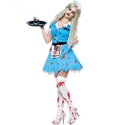 trajes para las mujeres vestido azul zombie zombie de halloween zombie ropachina mainland