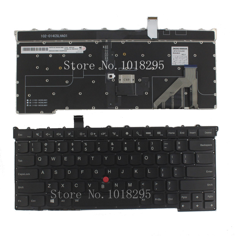 NEW for Lenovo Thinkpad Carbon X1 Gen 3 3rd 2015 Keyboard  US MQ6-84 US Laptop Keyboard for lenovo yoga tablet 2 1050 1050f 1050l new full lcd display monitor digitizer touch screen glass panel assembly replacement