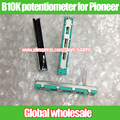 5 pcs 60mm misturador fader b10k duplo potenciômetro de volume para pioneer djm 400 500 600 800